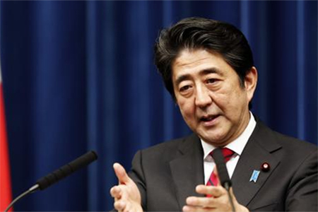 Japan's Prime Minister Shinzo Abe speaks during a news conference at his official residence in Tokyo