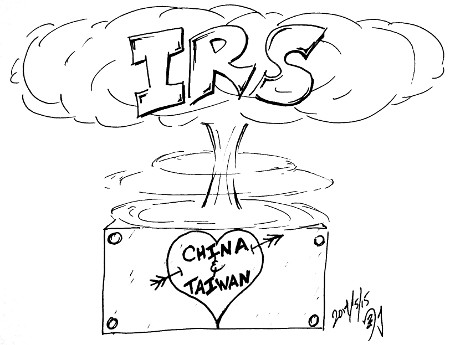"IRS ""Bomb"" Cloud (political art)"