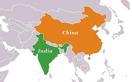 China-India Map