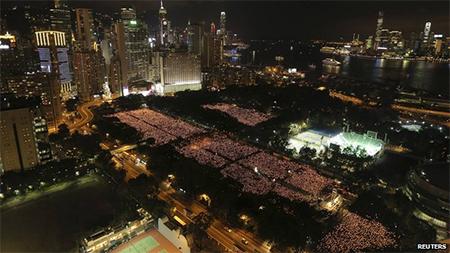 Hong Kong vigil commemorating Tiananmen