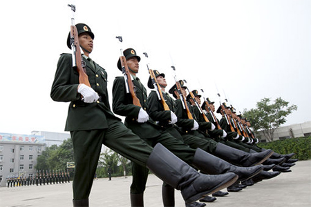 Members of China's People's Liberation Army in Beijing