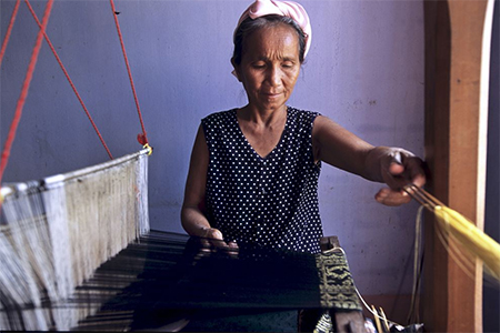 The Cham are renowned for their handwoven textiles. Their fabrics are exported, then often passed off as local goods