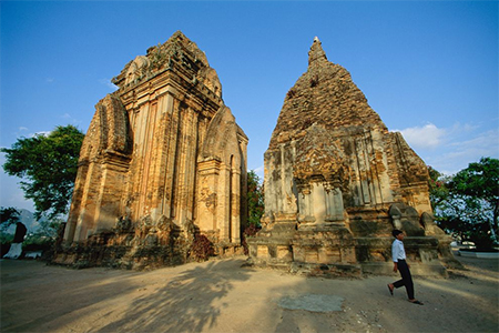 The Cham towers in Nha Trang, Vietnam, were built between the 7th and 12th centuries