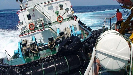 A Chinese boat collides with a Vietnamese vessel in contested waters of the South China Sea