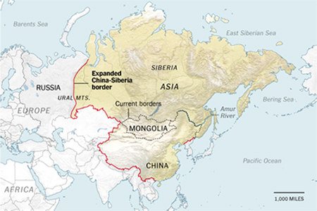 Expanded China-Siberia map showing possible claims China might make