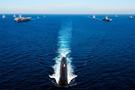 US Nuclear Submarine and Warships