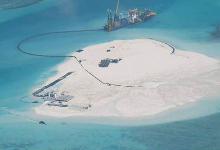 Artificial Island on Johnson South Reef