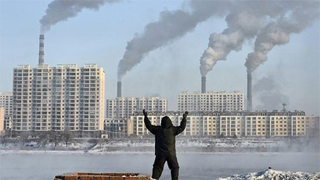 Enormous task: reducing China's carbon footprint.