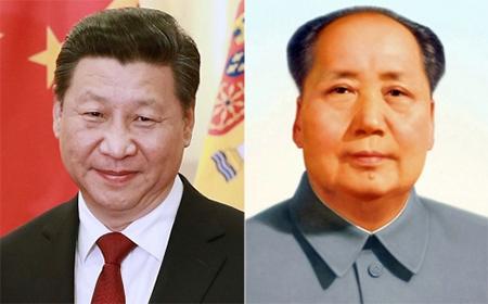 Xi Jinping and Mao Zedong