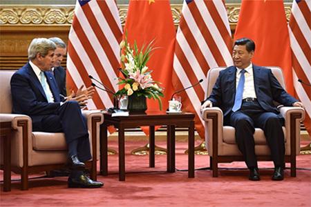 US Secretary of States John Kerry meets Xi Jinping