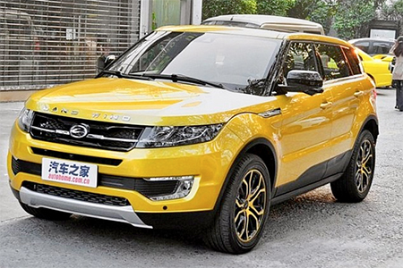 Fake: The Land Wind X7 sold in China for £26,000, a fraction of the price of the British brand's models