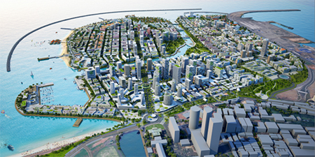"China's proposed ""Port City"" in Colombo"