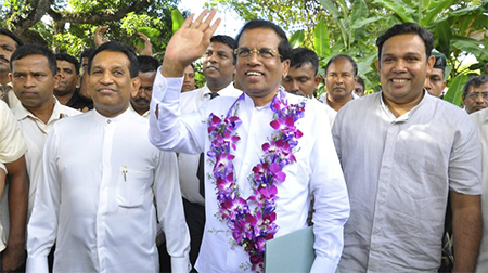 Mithripala Sirisena is ready to bid farewell to China's dominance in Sri Lanka.