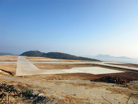 Helipads on Nanji Islands