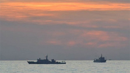 Chinese surveillance ships off Scarborough Shoal