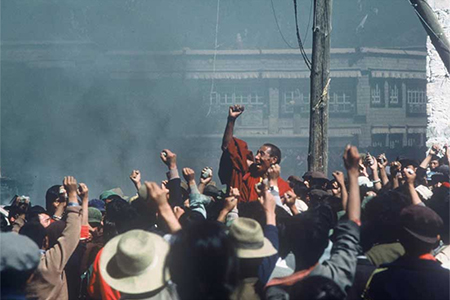 The historic demonstration led by the monks of Drepung Monastery erupted in the heart of Lhasa, the capital of Tibet in 1987.