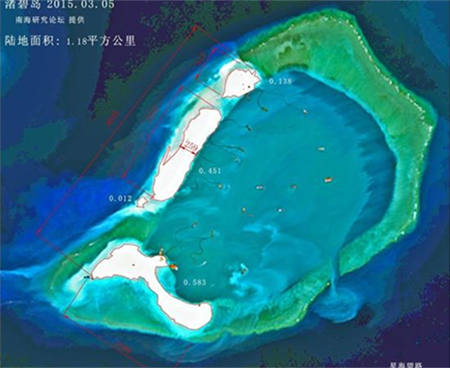 Two more pieces of land have been reclaimed on Subi Reef