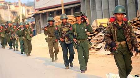 Myanmar's military is battling the rebels for control of Kokang