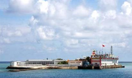 Spratly Reef connected to mobile, TV networks