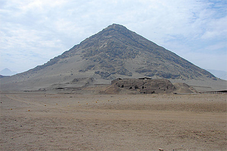 Cerro Blanco, or White Mountain, stands behind Chile's House of the Moon