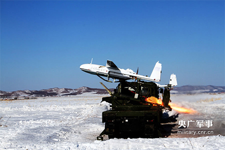 China's artillery guiding drone