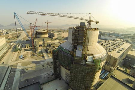 The construction site of a third-generation nuclear power plant in Zhejiang province, Dec. 25, 2014. (File photo/Xinhua)