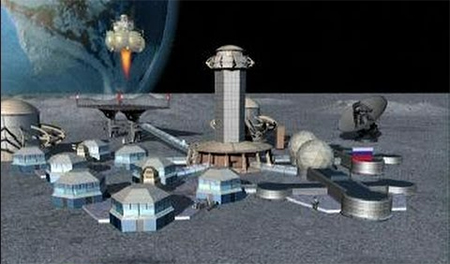 A possible design for proposed Chinese-Russian moon base