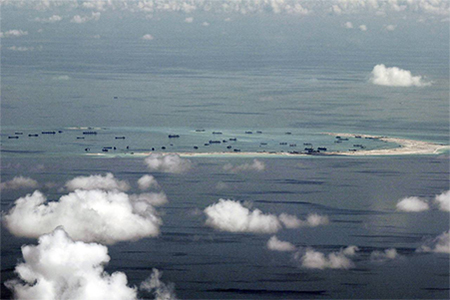One of China's reclamation projects on Mischief Reef in the Spratly Islands in the South China Sea.