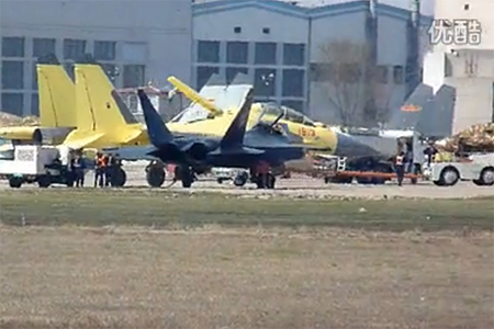A J-16 and a J-31 seen together
