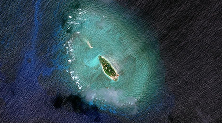 Photo showing the Dunqian Shazhou (Sand Cay), which China alleges is illegally occupied by Vietnam, taken in 2011.
