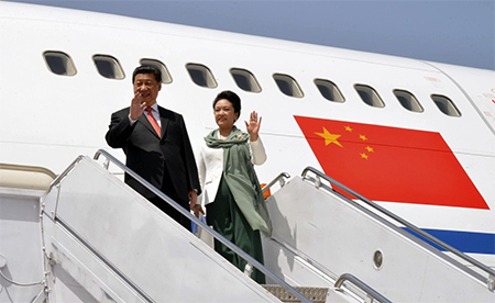 Chinese President Xi Jinping with his wife, Peng Liyuan.