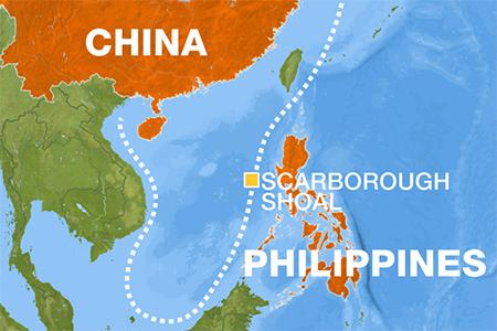 China Philippines Map
