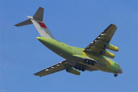 China's large transport aircraft Y-20