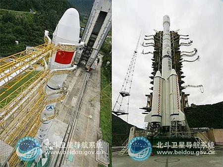 Rocket for beidou navigation satellite, Beidou website image