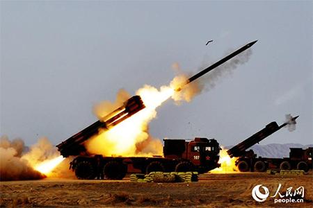 Firing of long-range rocket cannons