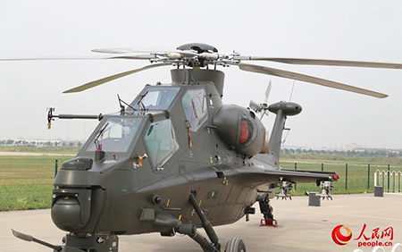 Z-10 cinbat helicopter regarded as China's Apache