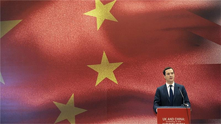 The editorial in the Chinese state-owned paper praised Osborne for focusing on business and not human rights