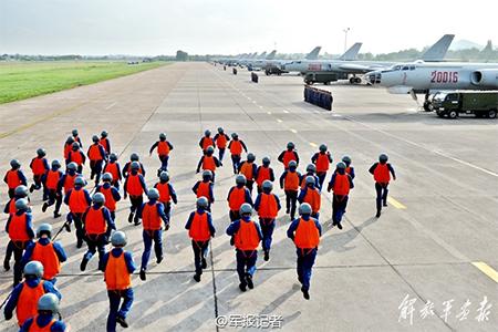 China's H-6Ks in South China