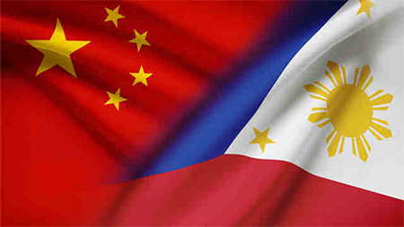 China Philippines Flags