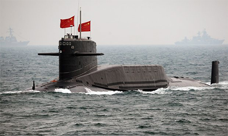 A Chinese navy submarine. China has been working on ballistic missile submarine technology for more than three decades. Photograph: Guang Niu/Getty Images