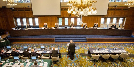 The Permanent Court of Arbitration meets to decide the case between the Philippines and China, with the Chinese side conspicuously missing after refusing to participate.