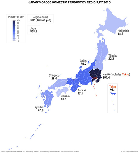 Japan GDP by Region