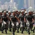 Chinese Troops near Hong Kong