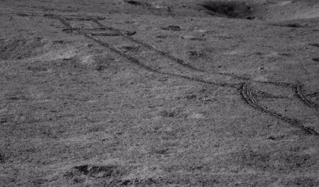 Yutu-2 Tracks on Moon