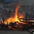 Hong Hong Protesters Burning the Chinese Flag