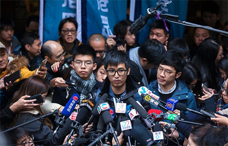 Joshua Wong and Alex Chow
