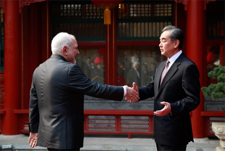 Mohammad Javad Zarif and Wang Yi