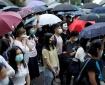 Hong Kong Protesters Wearing Masks