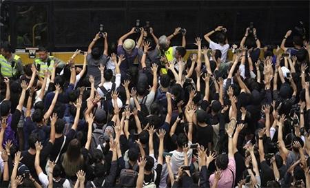 Protesters Outside Hong Kong Court