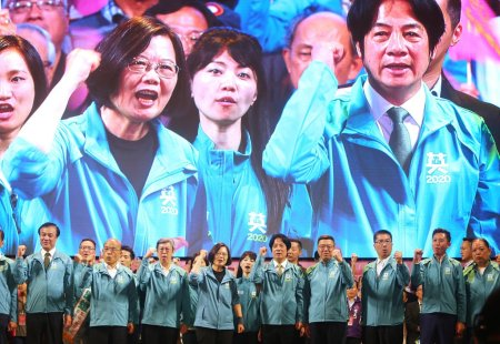 President Tsai Ing-Wen and Supporters